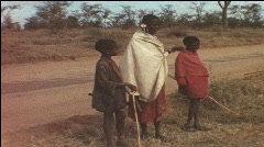 Massai in Kenya (vintage 8 mm-film) - stock footage