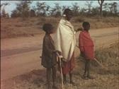 Massai in Kenya (vintage 8 mm-film) Stock Footage