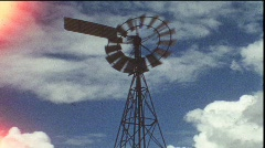 Wind wheel (vintage 8 mm amateur film) Stock Footage
