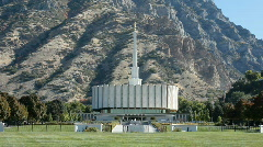 Mormon Temple Provo front P HD 3658 Stock Footage
