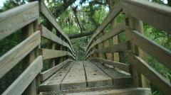 Bridge Walk Straight & Dutch Stock Footage
