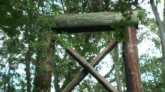 Suspension Bridge Tilt Stock Footage