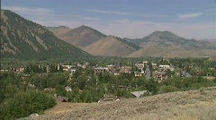 Idaho Sun Valley Ski Town Ketchum 23.98 Stock Footage