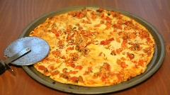 Margherita Style Pizza Stock Footage