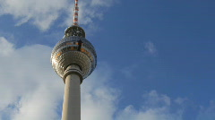 Berlin tv tower structure city urban Stock Footage