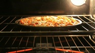Stock Video Footage of Pizza being taken out of oven
