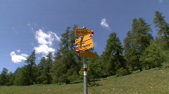 """Zoom in trail sign """"madulain"""" Stock Footage"""