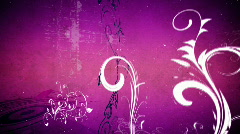 Vector flower 5 magenta loop - stock footage