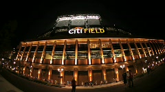 Citifield Baseball Park to New York Mets Stock Footage
