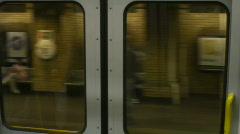 HD1080p London Underground train inside Stock Footage