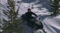 Snow Sled Snowmobile Montana 6 59.94 - stock footage