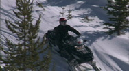 Stock Video Footage of Snow Sled Snowmobile Montana 6 59.94