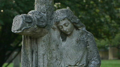 HD1080p Old sculpture in the garden. London Stock Footage