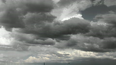 Monotone Storm Cloud Time Lapse Stock Footage