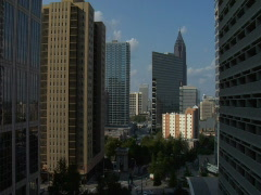 Atlanta Skyline Timelapse Stock Footage