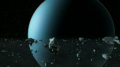Uranus rings Stock Footage