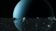 Uranus rings Stock Footage