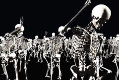 Dancing Skeletons Stock Footage