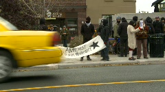 Politics and protest, peaceful protest anti-racism  Stock Footage