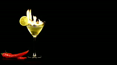 Hot martini   - stock footage