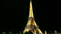 Eiffel Tower at Night with Sparkling Stars - stock footage