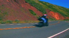 Motorcycles on a highway Stock Footage