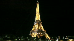 Eiffel Tower at Night with Sparkling Stars Arkistovideo