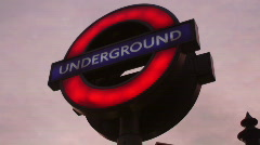 HD1080p London Underground train Stock Footage