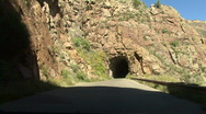 Tunnels Of A Mountain Road Stock Footage