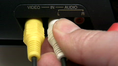 Composite AV Cable Stock Footage