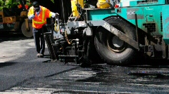 Asphalt finisher  Stock Footage