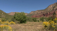 Red Rock In The Jemez Mountains Stock Footage