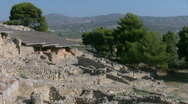 Stock Video Footage of The ruins of Festos on Crete