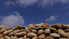 rocks sky00 - stock footage