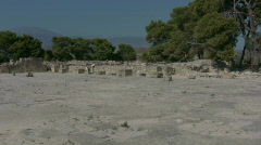 The ruins of Festos on Crete Stock Footage