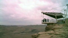 The Observation post of Makhtesh Ramon - The Big Crater Stock Footage