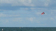 Kite surfing 1 hdp Stock Footage