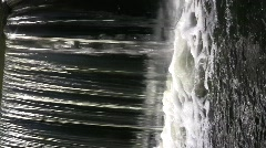 Transparent sparkling wall of a foaming waterfall Stock Footage