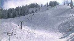 Winter Ski Resort Idaho Chairlift 3 59.94 Stock Footage