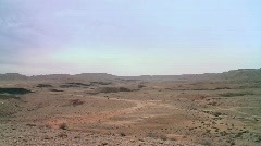 The Small Crater - wide pan left 2 Stock Footage