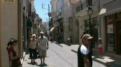 The streets of Rethymno Stock Footage