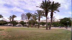 Park in Tel-Aviv Stock Footage