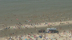 Netherlands 10 Amsterdam Beach Stock Footage