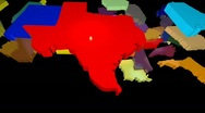 Stock Video Footage of USA animated map