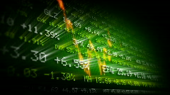 Stock exchange trading board (green) - stock footage