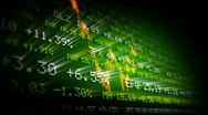 Stock Video Footage of Stock exchange trading board (green)