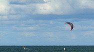 Kite surfing 4 hdp Stock Footage