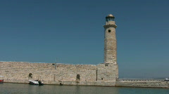 Lighthouse in Rethymno Stock Footage