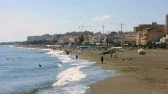 Torremolinos Sea Front Stock Footage