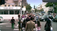 Stock Video Footage of Crowded street